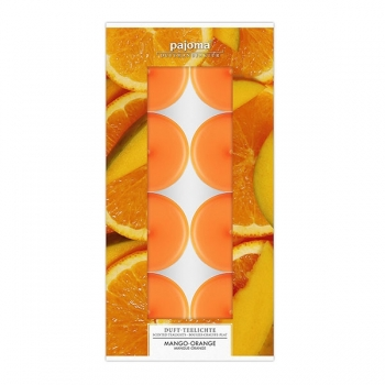 Duftteelichter Mango-Orange 8er-Set